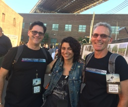 DSI founder Eric Luden and co founder Andrea Zocchi with Executive Producer Laura Raimos