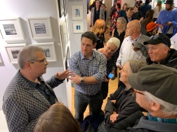 Chris Davies, Photo Independent, speaks with group at Fototfever